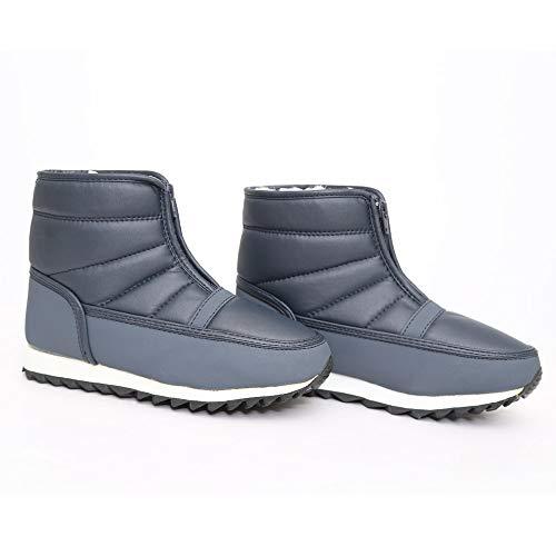 Botas Mujer Botitas de Azul con Zapatos Zapatos Antideslizante de Madre Cierre Sexy Nieve Planos la LuckyGirls para p0Sfqq