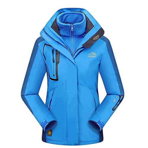 Vêtements Coupe Deux Pour Travail Imperméables Blue Femmes Veste Sport  Polaire D extérieur vent Laine ... a1df69b1f07a
