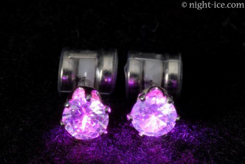 Original Night Ice LED Earrings (Purple) by Night Ice ® (Image #4)
