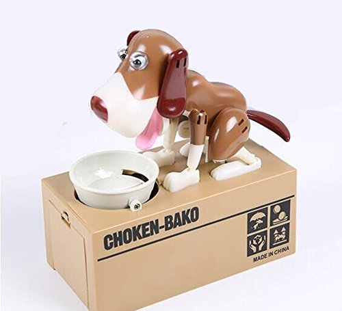 [Electronical Lovely Mini Greedy Mony Pot Girlfriend Children Gift Money box(Brown,Blck,White)] (Vending Machine Costume Ideas)