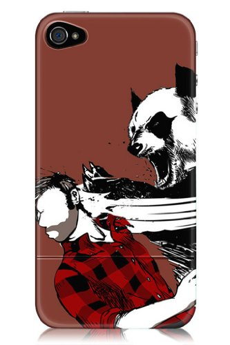 Sharp Shirter Panda Bitchslap iPhone 4 & 4S Case