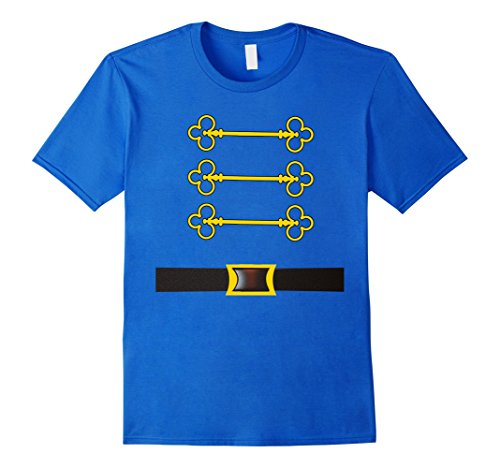 Mens Nutcracker Costume T-Shirt Wear With Toy Soldier Hat Small Royal (Nutcracker Costumes For Men)