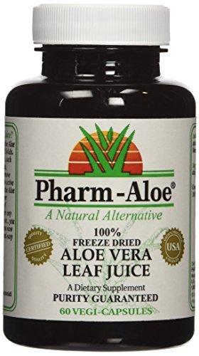 Pharm-Aloe 100% Freeze Dried Aloe Vera Juice Capsules 60 vegi-caps by Pharm-Aloe (Pharm Aloe Juice compare prices)