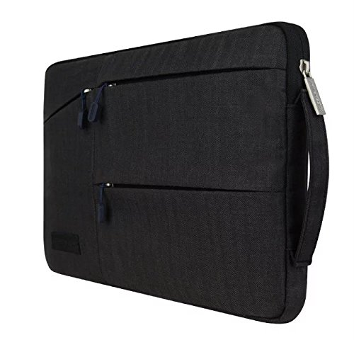 "Jlyifan Canvas Busniess Carrying Sleeve bag Breifcase Cover for The new MacBook 12-inch / iPad Pro 12.9 / Apple MacBook Pro 13"" 13.3"" Laptop / Microsoft Surface Pro 4 3 (Black)"
