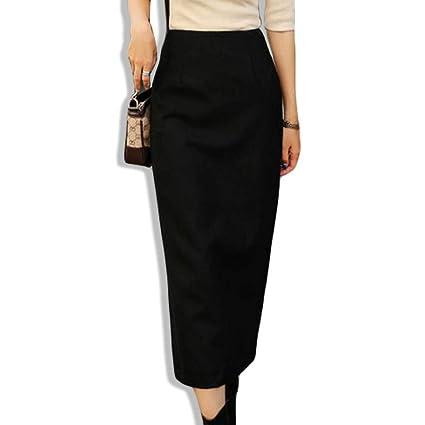 DAHDXD Faldas largas Elegantes de Invierno para Mujer Falda Larga ...