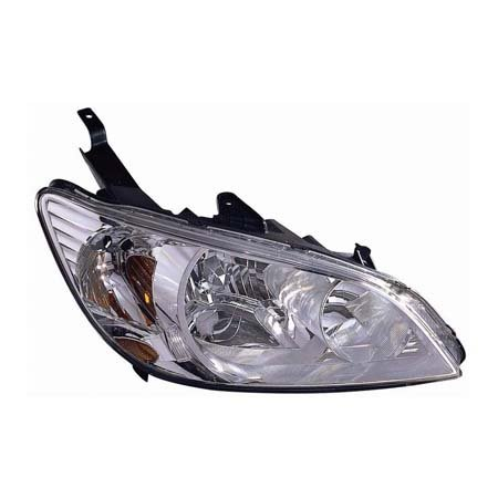 CarLights360: Fits 2004 2005 HONDA CIVIC Head Light Assembly Passenger Side w/Bulbs - Replacement for HO2503121
