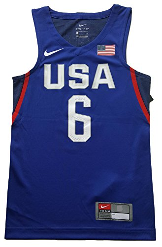 Nike Lebron Vi (Nike Boy's LeBron James Team USA Rio Elite Basketball Jersey #6 836033-456 (Medium) Royal)