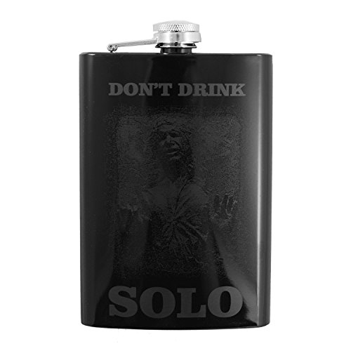 (8oz Dont Drink Solo Black Flask)