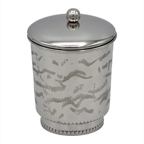 American Atelier Beaded Silver Jar