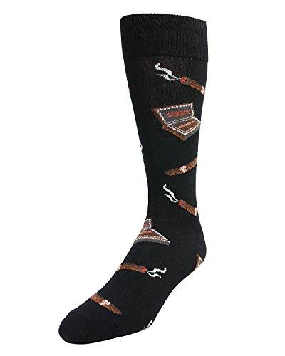 Memoi Smokers Delight Cigar Sock Black One Size 10 13