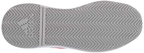 adidas Women's Adizero Defiant Bounce, Light Granite/Shock red/White 6 M US by adidas (Image #3)