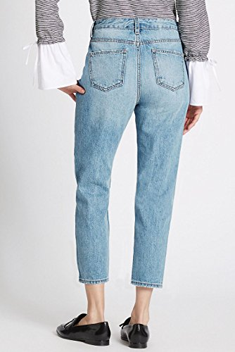 Bleu Unique Jeans Ex Femme Spencer Pale Taille amp; Marks 0Yn7v