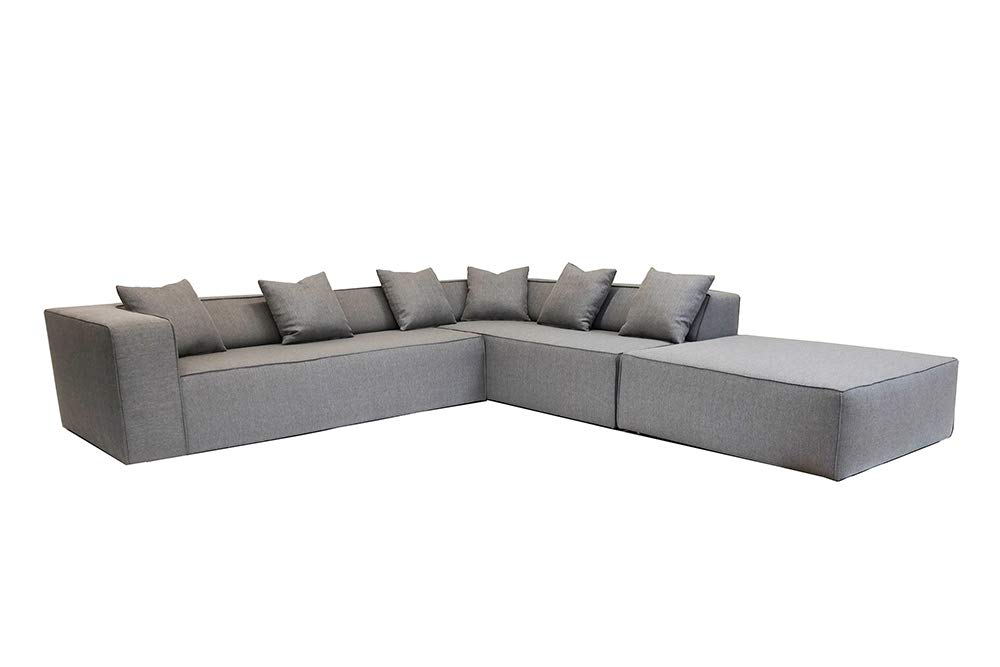 Fabulous Amazon Com Decenni Box Sectional Sofa And Ottoman From Los Machost Co Dining Chair Design Ideas Machostcouk