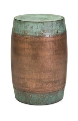 Rania Copper-Plated Outdoor Garden Stool