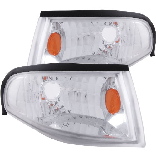 Anzo USA 521016 Ford Mustang Chrome Euro w/Amber Reflector Corner Light Assembly - (Sold in (Chrome Euro Corner Lights)