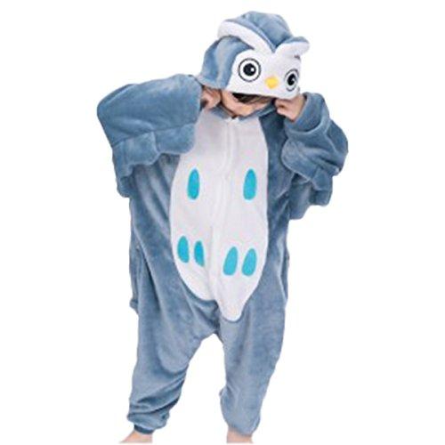 Sinastar Unisex Children Owl Costume Pyjamas Button Up Jumpsuit Halloween Cosplay ()