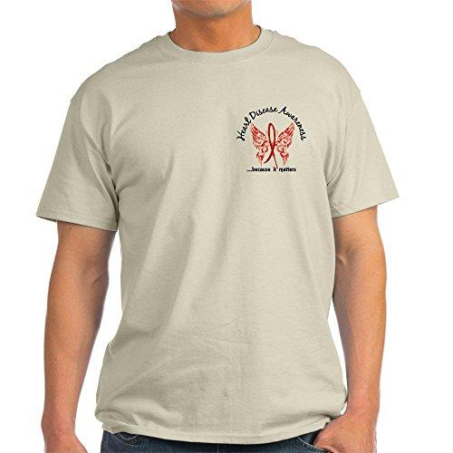 CafePress Heart Disease Butterfly 6.1-100% Cotton T-Shirt