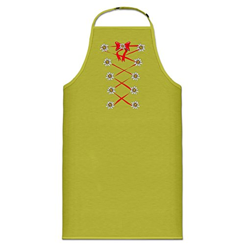 Shirtcity Dirndl Edelweiss Cooking Apron One Size Green