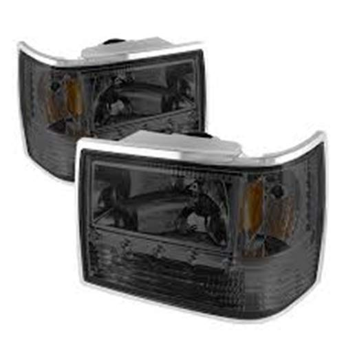 Spyder Auto HD-ON-JGC93-1PC-LED-SM Crystal Headlight 08-00-HD-ON-JGC93-1PC-LED-SM