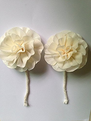 Chrysanthemum Balsa Sola Wood Diffuser Flowers 7 cm Dia. with cotton rope made from natural.