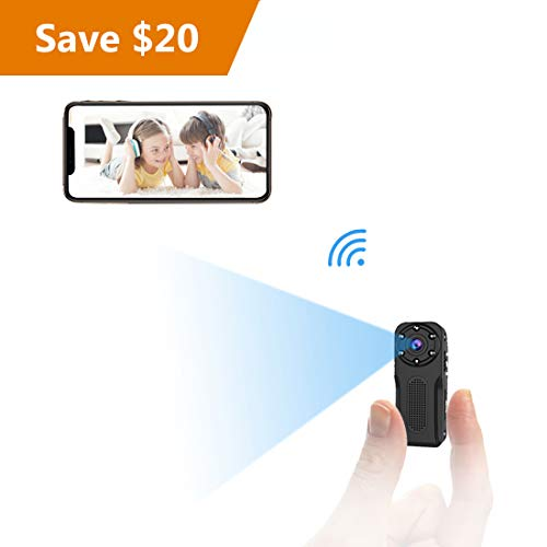 WiFi Waterproof Mini Spy Hidden Camera, NIYPS HD 1080P Covert Security Video Camera, Wireless Nanny Cam with Night Vision and Motion Detection, Portable Small Surveillance Camera for Indoor/Outdoor - Portable Video Surveillance