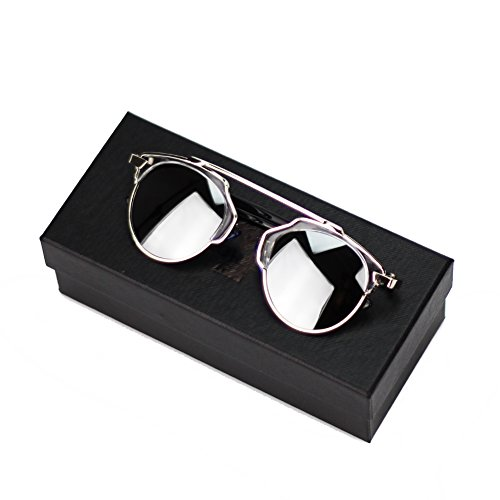 Cmk Trendy Kids Mirrow Lens Cateye Polarized Sunglasses