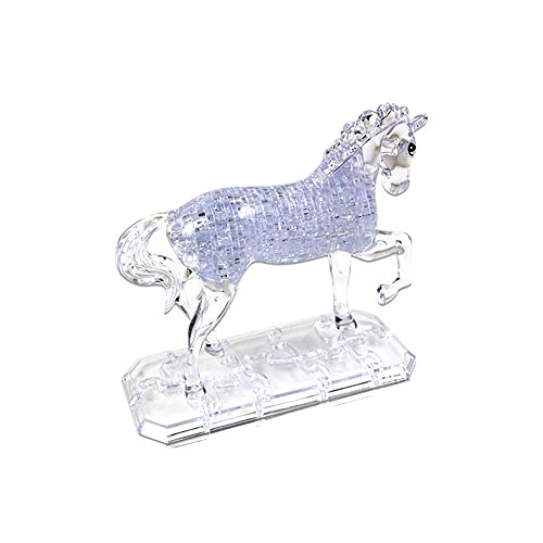 Baidecor Crystal Horse 3D Jigsaw Puzzles White 100 Pieces Toys Puzzle Games
