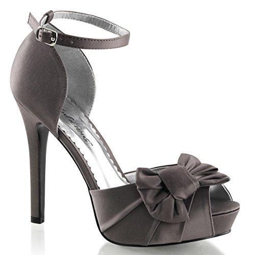 Damen 37 Sandalette Größe Grau Satin grau 5PBwqUUf