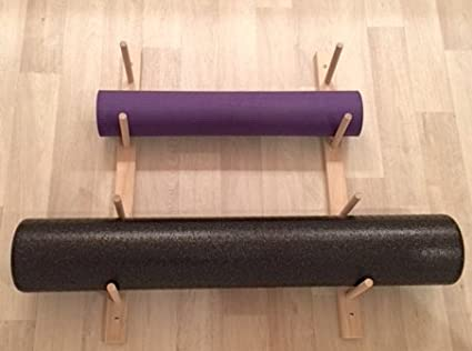Amazon Com Foam Roller Yoga Mat Storage Rack Holds 4 8 12 Etc Modular Sold By The Pairs And No Of Pairs You Get Determines No Of Mats Rollers You Hold Easy