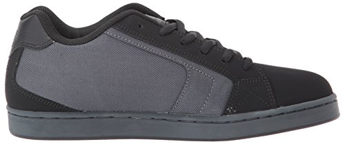 Mens DC Net SE Skate Shoe, Black/Grey/Grey, 6 D D US