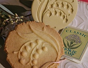 (Brown Bag Lily of the Valley Cookie Stamp - Art Nouveau Flower Series)