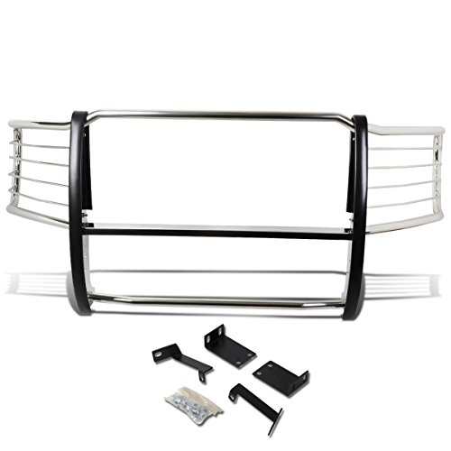 DNA MOTORING Silver GRILL-G-034-SS Front Bumper Brush Grille Guard (Std Bumper Rear)