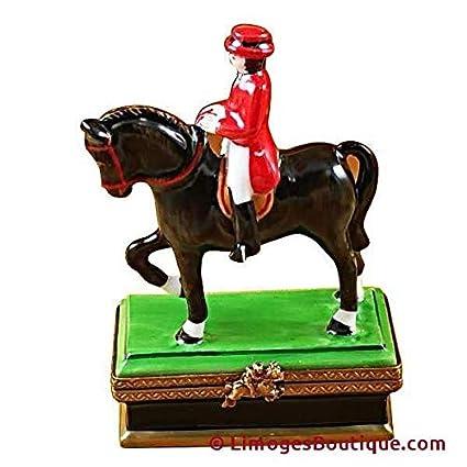 Amazon com: HORSE WITH RIDER - DRESSAGE - LIMOGES BOX
