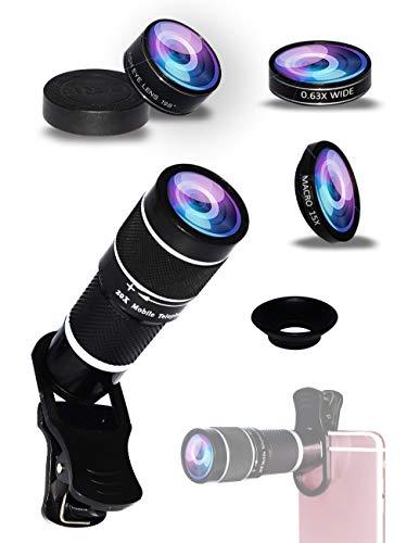 Cell Phone Camera Lens Kit,5 in 1 Lens Kit-High...