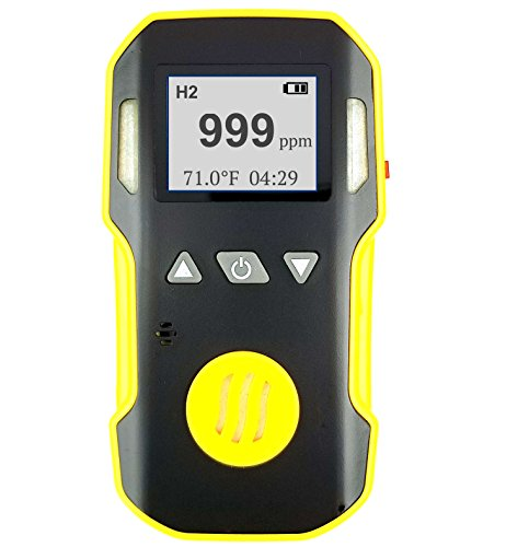 (HYDROGEN H2 Gas Detector, Meter & Analyzer by FORENSICS | Professional Series | Water, Dust & Explosion Proof | USB Recharge | Sound, Light and Vibration Alarms | 0-1000 ppm |)