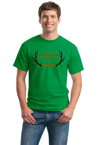 IF I'M HUNTING, I'M HAPPY Unisex T-shirt / Funny Deer Hunting Hunter Tee
