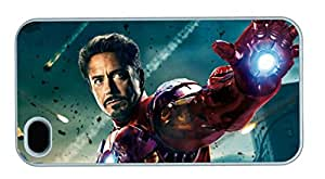 Iron Man in Avengers Movie Customized Hard Shell White iphone 4/4s Case By diycenter Your Best Choice