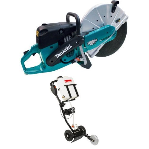 Makita EK8100 16-Inch 81 cc Power Cutter DT2010 Power Cutter Dolly with 4.2 Gallon Water Tank