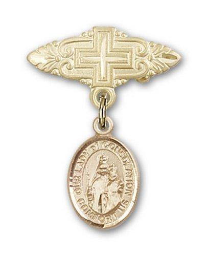 Icecarats Or Bijoux De Créateurs Rempli O / L De Consolation Broche De Badge Charme Avec Une Croix X 3/4