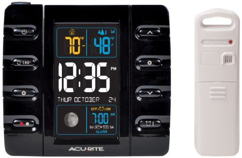 AcuRite 13020 Intelli-Time Projection Alarm Clock with Tempe