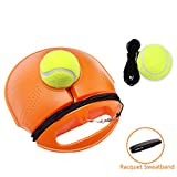 JUOIFIP Tennis Trainer Set Rebound Baseboard, Fill & Drill Tennis Self-Study Practice Training Tool Equipment Sport Exercise Beginner 2 Balls