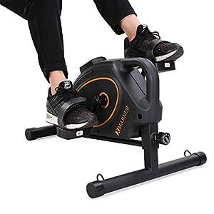 MARNUR Mini Vélo Appartement Pédale Pédalier Exercice Stationnaire Cycle Entraînement Magnétique à Maison Bureau…