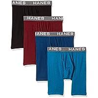 Hanes Ultimate Men's Comfort Flex Fit Ultra Soft Cotton Modal Blend Boxer Brief 4-Pack