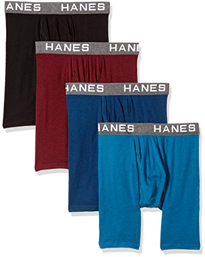 Brief Fit Boxer Flexible - Hanes Ultimate Men's Comfort Flex Fit Ultra Soft Cotton Modal Blend Boxer Brief 4-Pack, Assorted, Medium