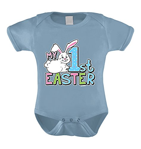 HAASE UNLIMITED My First Easter Infant Bodysuit (Light Blue, 12 Months)