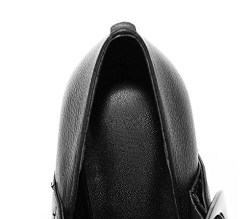 Otoño Gruesos Cerradura Lengua Europa Profunda Cuadrada Zapatos Mujer Primavera LBDX Poco 1 Zapatos Tacones de América y y de Cabeza U0Ww5