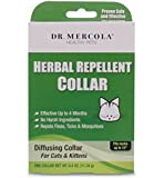 Dr Mercola Herbal Repellent Collar For Cats & Kittens - Repels Ticks/Fleas/Mosquitos - Effective Up To 4 Months - Premium Pet Care Products