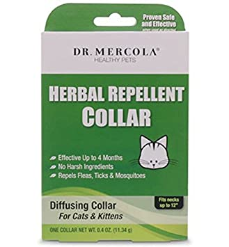 Great Dr Mercola Herbal Repellent Collar For Cats U0026 Kittens   Repels  Ticks/Fleas/Mosquitos