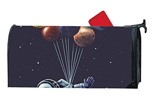 JuLeFan Space Travel Personalized Mailbox Cover Magnetic Fits Standard-Sized Mailboxes by JuLeFan