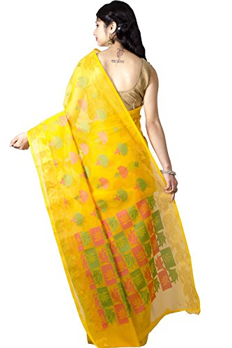 Chandrakala-Womens-Banarasi-Cotton-Saree-Free-Size-Yellow